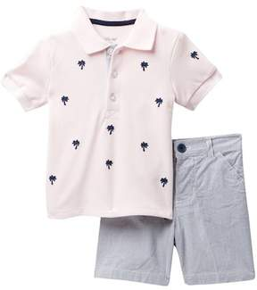 Little Me Palm Tree Polo Short Set (Baby Boys)