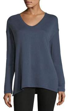 Neiman Marcus Majestic Paris for Cotton-Blend V-Neck Sweatshirt