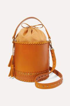 Ulla Johnson Andra Embellished Leather Bucket Bag - Yellow