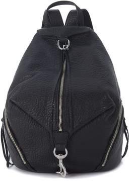 Rebecca Minkoff Julian Black Leather Backpack - NERO - STYLE