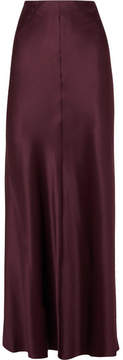 Joseph Theo Silk-satin Maxi Skirt - Burgundy
