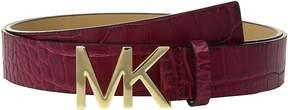 MICHAEL Michael Kors Croc Logo Belt Women's Belts