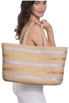 Eric Javits | Sinclair Tote | Peanut/silver/gold