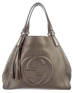 Gucci Soho Top Handle Tote - METALLIC - STYLE