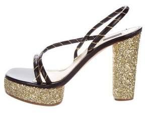Marc Jacobs Glitter Slingback Sandals