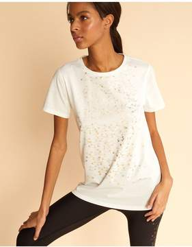Cynthia Rowley | Gold Pin Foil Tee | L | White