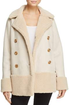 Mother Faux Shearling Coat