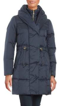 Cole Haan Puffed Shawl-Collar Down Puffer Coat