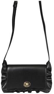 Borbonese Women's Black Leather Shoulder Bag.