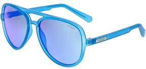 GUESS Men's GF0150-91X-60 Blue Aviator Sunglasses