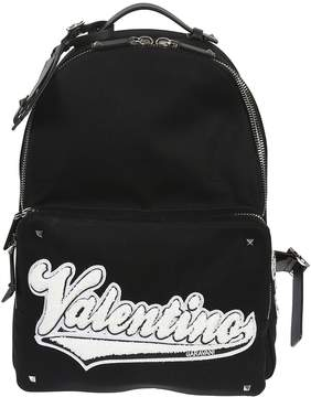 Valentino Logo Patch Backpack