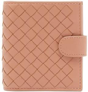 Bottega Veneta Intrecciato Bi Fold Leather Wallet - Womens - Nude