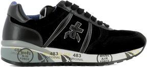 Premiata Black Velvet Sneakers