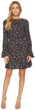 Ellen Tracy Crew Neck Dress With D-Ring Belt Women's Dress