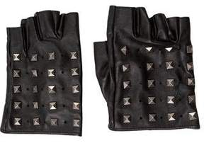 Karl Lagerfeld Leather Studded Gloves