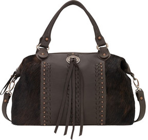 American West Cow Town Large Zip-Top Convertible Satchel (Women's)