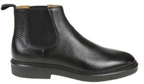 Doucal's Men's Black Leather Ankle Boots.