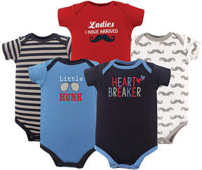 Luvable Friends Black & Blue Bodysuit Set - Infant