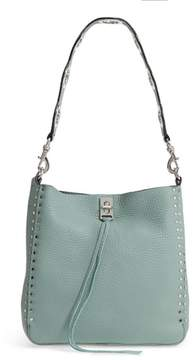 Rebecca Minkoff Small Darren Deerskin Leather Feed Bag - GREEN - STYLE