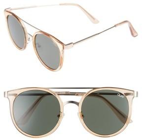 Quay Women's Kandy Gram 51Mm Round Sunglasses - Gold/ Green Lens
