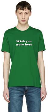 Ami Alexandre Mattiussi Green Wish You Were Here T-Shirt