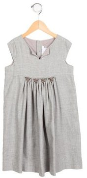 Jacadi Girls' Embroidered Shift Dress