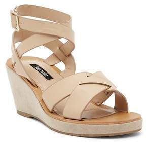 Kensie Venezia Leather Wedge Sandal