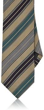 Drakes Drake's Men's Striped Silk-Cotton Necktie
