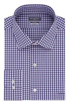 Van Heusen Regular-Fit Check Cotton Dress Shirt