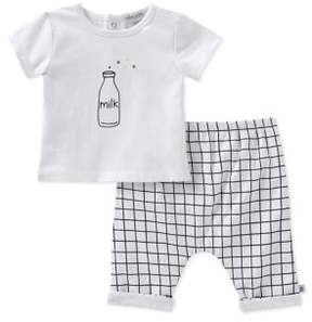 Absorba Baby Boy's Two-Piece Tee and Cotton Shorts Set