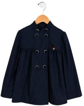 Gucci Girls' Ruffle-Trimmed Double-Breasted Jacket