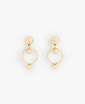 Ann Taylor Circle Drop Earrings