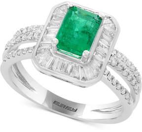 Effy Brasilica by Emerald (9/10 ct. t.w.) & Diamond (3/4 ct. t.w.) Ring in 14k White Gold