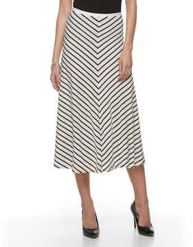 Dana Buchman Women's Mitered Midi Skirt