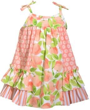 Bonnie Jean Baby Girl Peach & Flower Sundress