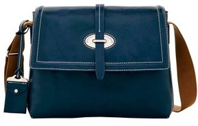Dooney & Bourke Florentine Toscana Messenger Bag. - NAVY - STYLE