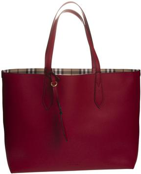 Burberry Medium Reversible Shopper Bag - POPPY RED - STYLE