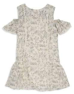 Imoga Toddler's, Little Girl's& Girl's Cold-Shoulder Floral Dress