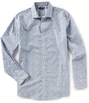 Murano Slim-Fit Floral Print Long-Sleeve Woven Shirt
