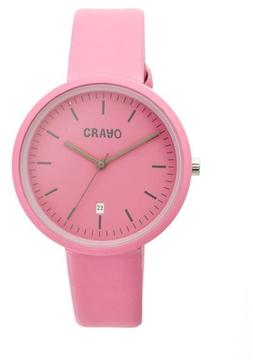 Crayo Easy Collection CRACR2408 Unisex Watch with Leather Strap