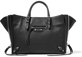 Balenciaga - Papier A6 Textured-leather Tote - Black