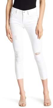 C&C California Frayed Hem Cropped Distressed Skinny Jeans