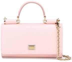 Dolce & Gabbana mini 'Von' wallet crossbody bag - PINK & PURPLE - STYLE