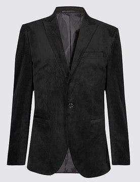 Marks and Spencer Charcoal Velvet Jacket
