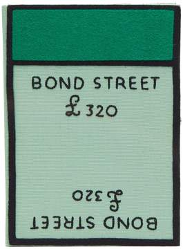 Olympia Le-Tan Monopoly Bond Street-embroidered book clutch