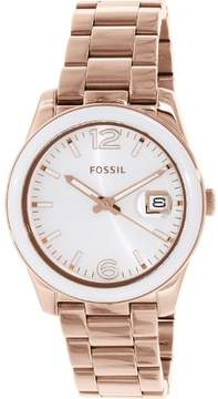 Fossil Women's Boyfriend CE1088 Rose-Gold Stainless-Steel Quartz Watch