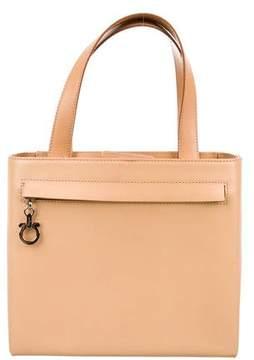 Salvatore Ferragamo Zip Pocket Smooth Leather Handle Bag