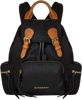 Burberry Nylon and Leather Small Rucksack