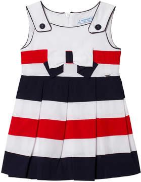 Mayoral Multi Stripe Sailor Poplin Dress