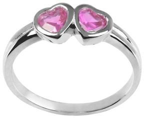 Journee Collection 1/5 CT. T.W. Heart-cut CZ Bezel Set Kid's Heart Ring in Sterling Silver